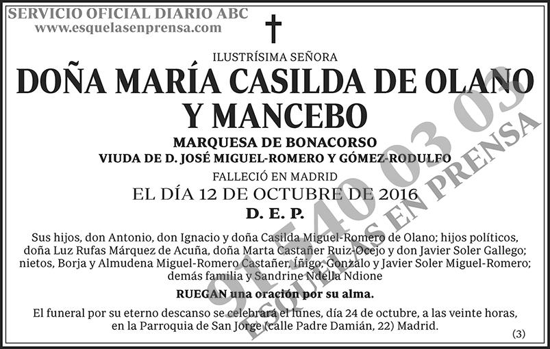 María Casilda de Olano y Mancebo